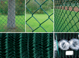 Chain link fencing with pvc coated galvanized wire